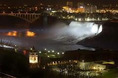 Niagara Falls At Night (SavingMemories) Tags: night niagarafalls nightscape rainbowbridge savingmemories suemoffett