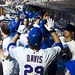 Ike Davis is congratulated for his HR