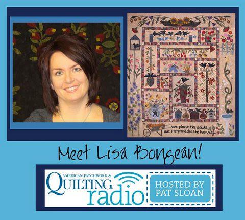 Pat Sloan for APQ Radio guest Lisa Bongean