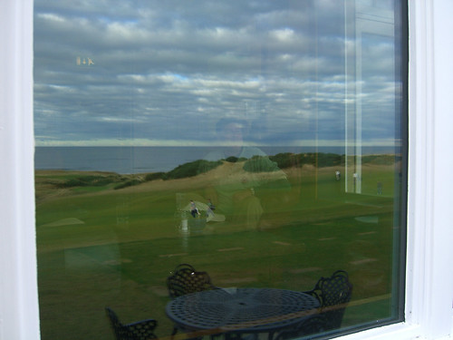 Paul in the Kingsbarns Clubhouse