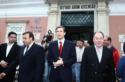 Pedro Passos Coelho visita Refugio Aboim Ascensão