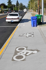 Cully Blvd cycle track-8