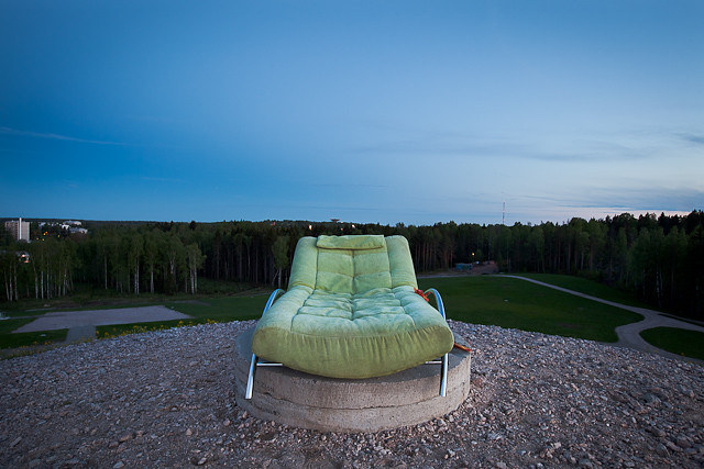 Lounger on the top of Vantaa