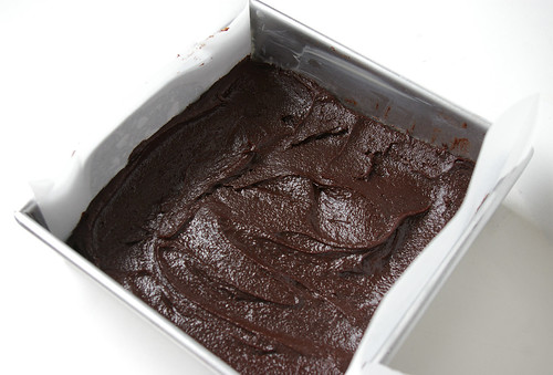 Deep dark brownie batter