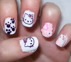 Hello Kitty Japanese nail look