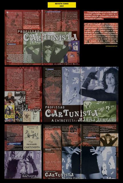 """""""A Entrevista: Marisa Furtado"""" - Revista Comix - 2001"""