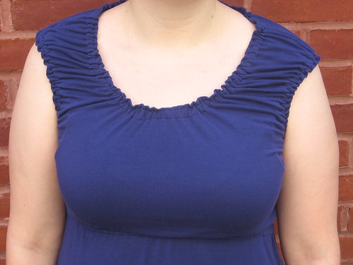 Blue Peasant Dress Bodice