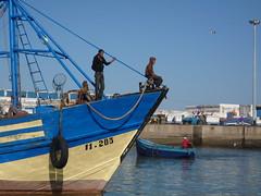 Essaouira fishermen returning to port (Morocco) ({erikv}) Tags: morocco fishingboats essaouira marokko fishingport