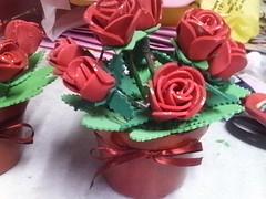 vaso com flores em eva (lollyart) Tags: eva biscuit infantil casamento enfeites festas maternidade lembrancinhas