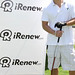 Nick Lachey ready to tee off with his white iRenew Bracelett