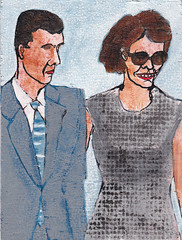# 1681 jurk (h e r m a n) Tags: art painting couple dress kunst schilderij herman plankje jurk stel manandwife manenvrouw