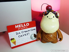Ice cream cone Cavey (Hey, Cavey) Tags: ice cream kidrobot custom bub cavey