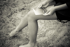Memories of somebody else (Pimthida) Tags: nature playground sand legs swing photograph memory