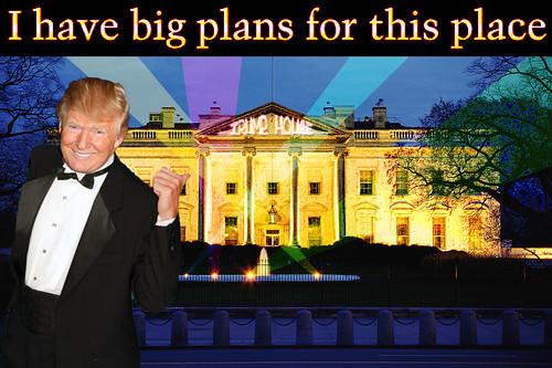 Donald Trump's Gaudy White-House