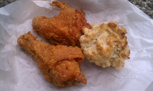 Fried Chicken and a Biscuit from Flogene's