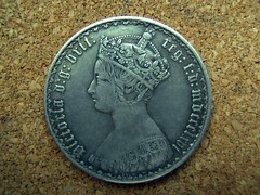 Queen Victoria Florin (1866) (D@nnyR Photogr@phics.) Tags: silver coin potrait essex queenvictoria florin