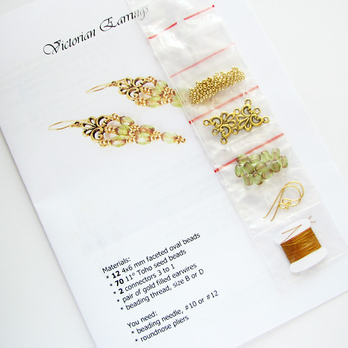 victorian earrings beadweaving kit
