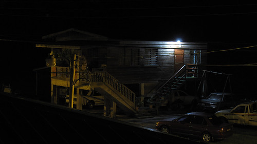 The Auto Repair Shop At Night