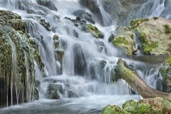 Falling Springs Waterfall(ic3q) (curtisWarwick) Tags: longexposure trees leaves creek forest river virginia waterfall moss log woods stream exposure flood 100mm ef fallingsprings f28l exposureroanoke