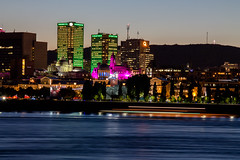 montral (laurne rycke) Tags: montreal parc jean drapeau parcjeandrapeau nuit night lumires lights stlaurent fleuve couleur