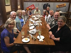 Dinner at Lone Star Restaurant (NewportMesaChurch) Tags: art rose canales lori mike roberts mel janice cornwell gus cerillo betty yater eileen hall keith myrt ewing mercedes armendariz bob fran boehme