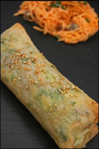 5552548306 98b0490460 Spring Roll au poulet et piment vert – Salade de carotte et raisins au yaourt