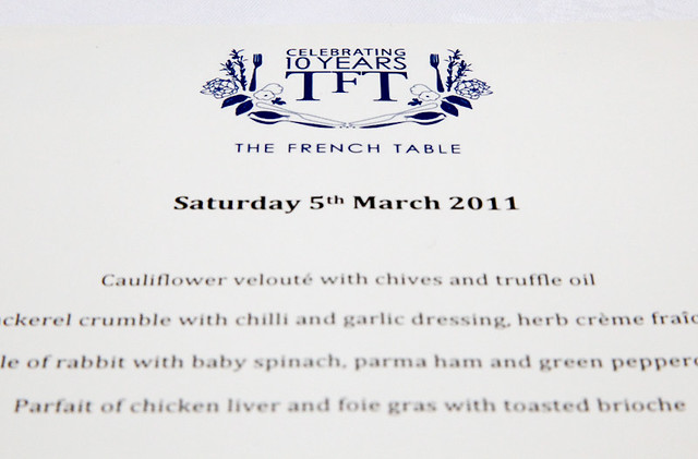 The French Table Menu