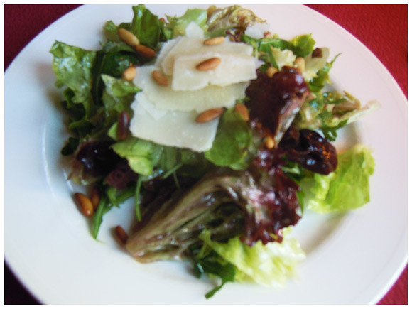 A salad starter at La Broche, located in Plainpalais, Geneva