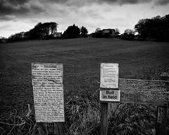 Neospora warning (Allan Rostron) Tags: uk england signs dogs warning blackwhite harrogate northyorkshire neurospora silverefexpro cattlediseases