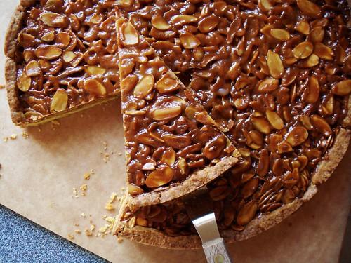 Tangerine & Almond Shortbread Tart