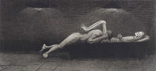 Alfred Kubin - Pocalunek, 1903