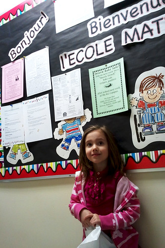 Eliza at her Kindergarten Evaluation