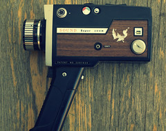 Sound Super Zoom - Super 8 Camera (electric.porcupine [bmazz.tumblr.com]) Tags: camera vintage retro videocamera filmcamera super8 woodpanelling