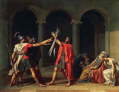 J. L. David, El juramento de los Horacios. 1785
