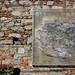 [senza titolo]; 1988. Acrilici e resina su plexiglas, cm 250x250.<br /> Maglione, Via Castello. Opera rimossa e spostata interno edificio ex Scuole<br />
