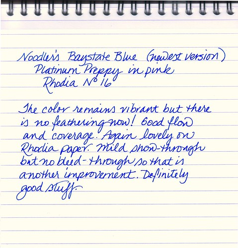 Noodler's Baystate Blue - Newest Formulation