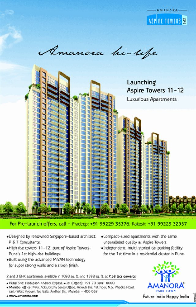 Amanora Aspire Towers 11-12 Launched!