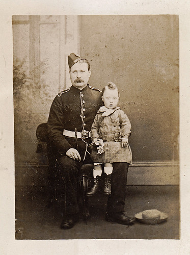 Soldier and child.