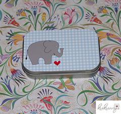"Metalldose Elefant ""Fil"" Vichy Karo (kukuwaja) Tags: elephant design heart box giveaway packaging fest elefant package verpackung geschenk karo herz vichy taufe schachtel dose aufbewahrung kariert geschenkbox mitbringsel gastgeschenk metalldose"