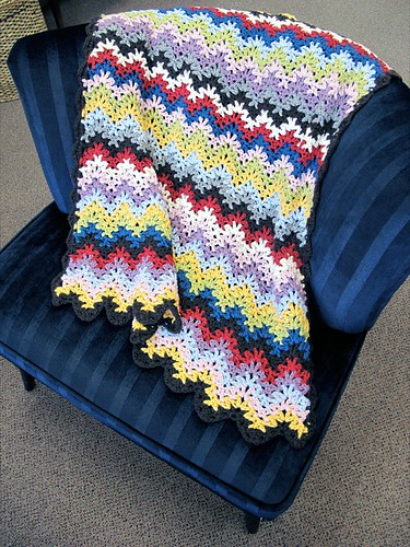 Churchmouse Vintage Crocheted Blanket