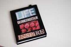 Inspire. (Snowflakesarewhite) Tags: life iris black moleskine canon notebook 50mm f18 inspire globetrotter slootheer irisslootheer snowflakesarewhite