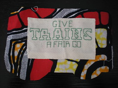completed handcrafted carriage petitions for our train bunting (craftivist collective) Tags: justi
