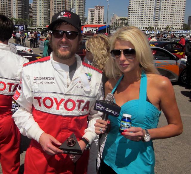 AJ Buckley, Jennifer Lexon, Toyota Grand Prix Celebrity Race 2011