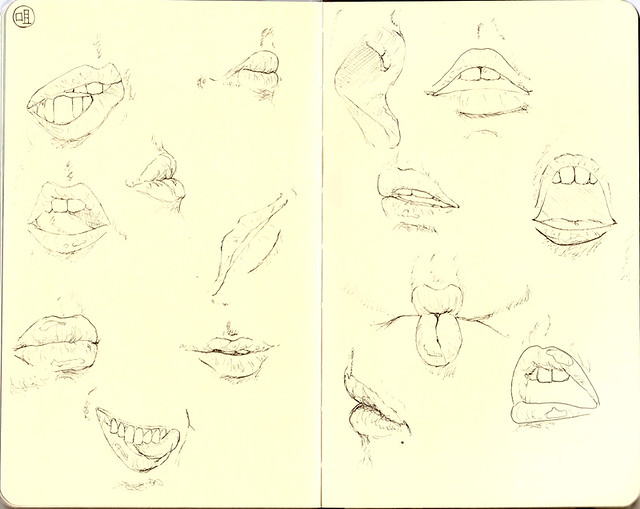 random portrait: mouths