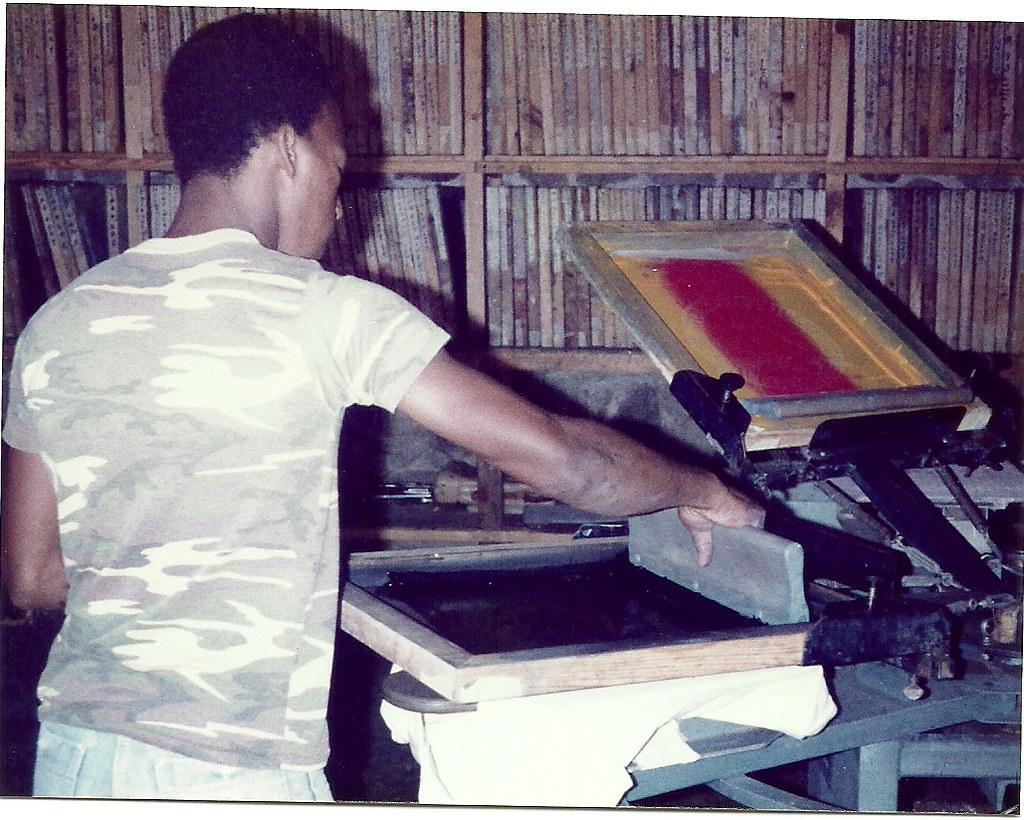 The T-Shirt printing Shop, Plymouth, Montserrat February 1983