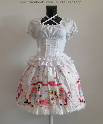 Metamorphose Room print white skirt