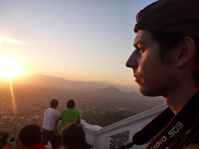 Pôr do sol em Santiago