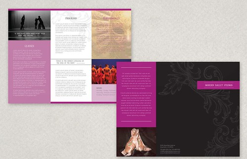 Elegant Ballet Brochure Template 1- Elegant, Ballet, Brochure, Template, Graphic Design Template, Customize Print, Design Template, Brochure