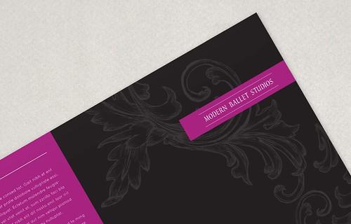 Design: Elegant Ballet Brochure - define1lady