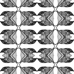 (Deviant_Lines) Tags: motif leaves lines contemporary textile deviant devious zentangle